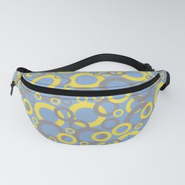 Funky Ring Pattern 2 V5 2021 Color of the year Illuminating Yellow, Ultimate Gray and Placid Blue Fanny Pack