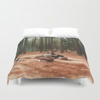 camp Duvet Covers featuring Camp by Casey Afton Hess