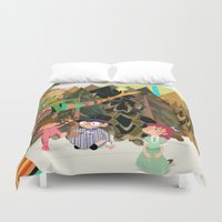 neverland Duvet Covers featuring An Afternoon In Neverland by Kelly Kates