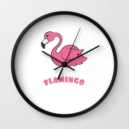 Catch this Cute, Pink & lovely ready to flamingle Flamingo lovers Tee For Ladies Crazy Flamingo Lady Wall Clock