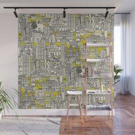 Hong Kong toile de jouy chartreuse Wall Mural
