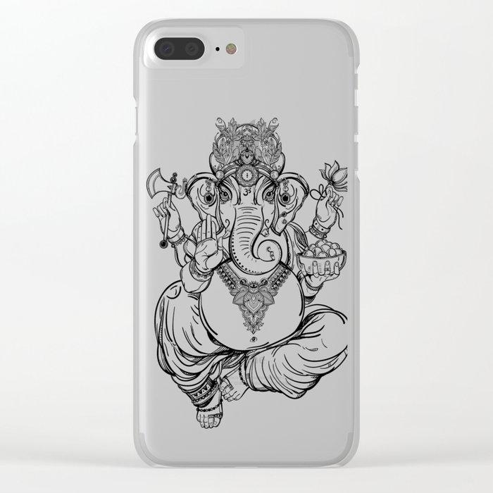 Lord Ganesha Clear iPhone Case