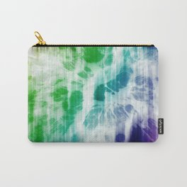 Boho Chic Blue Tie-Dye Carry-All Pouch