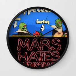 Mars Hates Christmas - Puppeteers Wall Clock