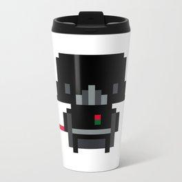 Pixel Darth Vader Metal Travel Mug