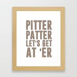 Pitter Patter LetterKenny Framed Art Print