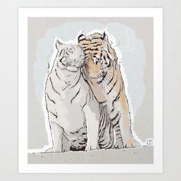Tiger Love Art Print