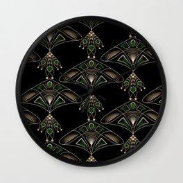 """Art Deco """"Emeralds """" Wall Clock"""