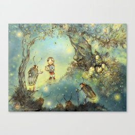 Firefly Forest Canvas Print