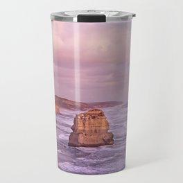 Gog and MaGog At Sunset. 12 Apostles Along The Great Ocean Road. Travel Mug