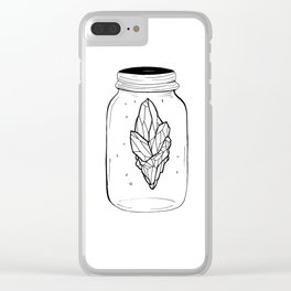 Crystal in a bottle Clear iPhone Case