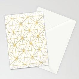 Geometric Golden Pattern Stationery Cards