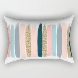 Zara - Brushstroke glitter trendy girly art print and phone case for young trendy girls Rectangular Pillow