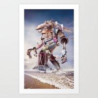 sasquatch Art Prints featuring Sasquatch Reborn by Josh Dykgraaf