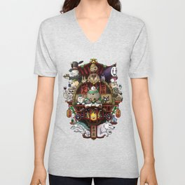 Ghibli Izakaya Print Coloured Unisex V-Neck