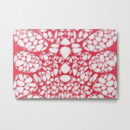 Red on white, organic abstraction Metal Print