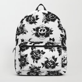 Traditional Roses Pattern Backpack