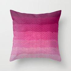 Strawberry grunge Throw Pillow