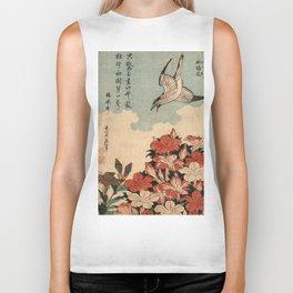 Hokusai Cuckoo and azaleas -hokusai,manga,japan,Katsushika,cuckoo,azaleas,Rhododendron Biker Tank