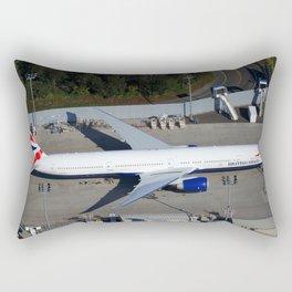 British Airways Boeing 777-300ER awaiting delivery. Rectangular Pillow