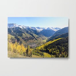 Overlooking Telluride in the Fall Metal Print
