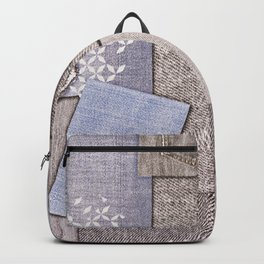 Background of pieces of denim Backpack