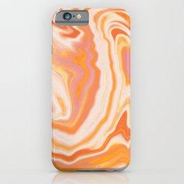 orange marble iPhone Case