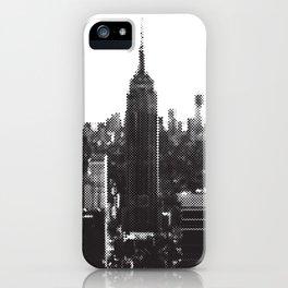 Halftone New York Skyline iPhone Case