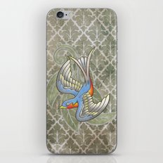 Sparrow tattoo iPhone & iPod Skin