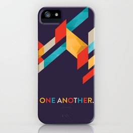 One Another Scripture Poster: Romans 12 iPhone Case