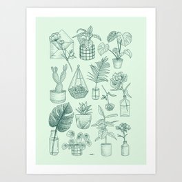 PLANTS LOVER Art Print