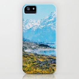 Mountain Scenery 1 painted iPhone Case