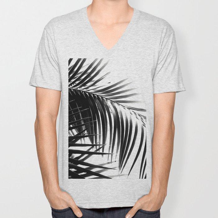 Palm Leaves Black & White Vibes #3 #tropical #decor #art #society6 Unisex V-Neck