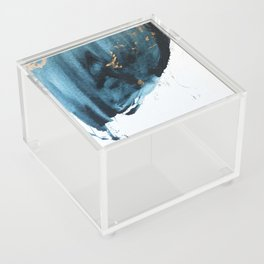 Sapphire and Gold Abstract Acrylic Box