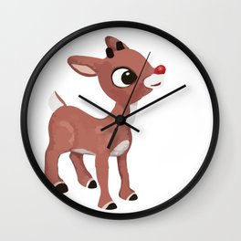 Classic Rudolph Wall Clock