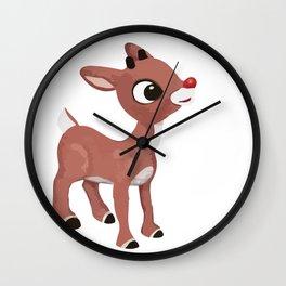 Classic Rudolph Wall Clock