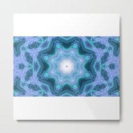 Star shaped neon dots 3d illustration Metal Print