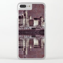 thee graces reflected Clear iPhone Case
