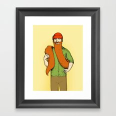 Mr. McBeardy Framed Art Print