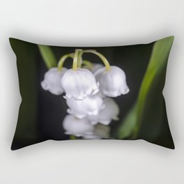 Lily of the valley close up Rectangular Pillow