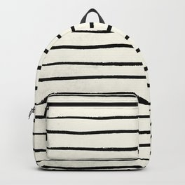 Horizontal Ivory Stripes II Backpack