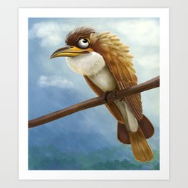 Whimsical Bird Art Print