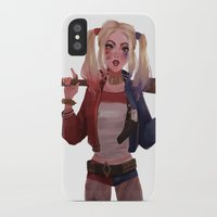 harley quinn iPhone & iPod Cases featuring Harley Quinn by punziella