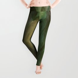 The Beginning of Autumn Abstract Leggings