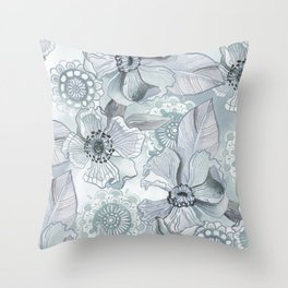 Lil' Garden Party - Storm Throw Pillow