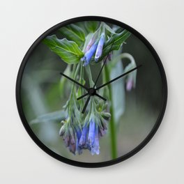 Blue Flower up in the Moutains Wall Clock