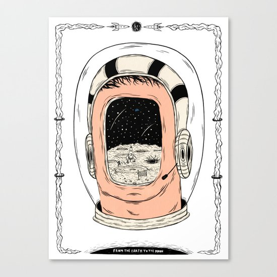 From the Earth to the Moon Canvas Print