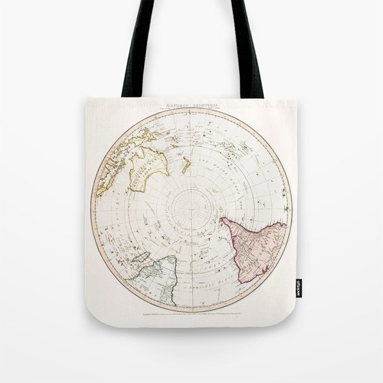 Southern Hemisphere - reproduction of William Faden's 1790 engraving Tote Bag