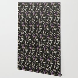 WITCH pattern • in black salt Wallpaper