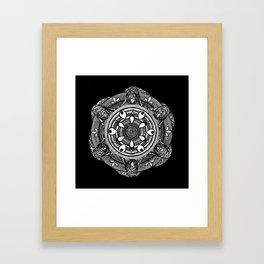 Water Mandala Framed Art Print
